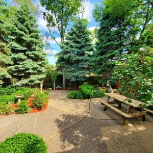 Spring Forest Deli and Catering Willow Springs Illinois Event Venue Rental Location for Wedding Baby Shower Bridal Birthday Reunion Graduation Celebration garden pavilion landscaping yard