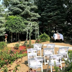 Spring Forest Deli and Catering Willow Springs Illinois Event Venue Rental Location for Wedding Baby Shower Bridal Birthday Reunion Graduation Celebration garden pavilion wedding decorations 05
